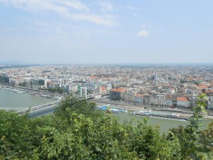 Ausblick auf Budapest